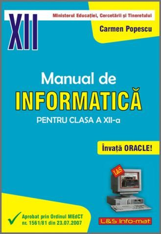 Manual de informatic pentru clasa a xii a oracle for Manual de acuicultura pdf